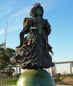 Statue of Catherine of Braganza in Lisbon.