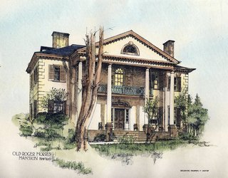 Drawing of the Morris-Jumel Mansion, 1893.