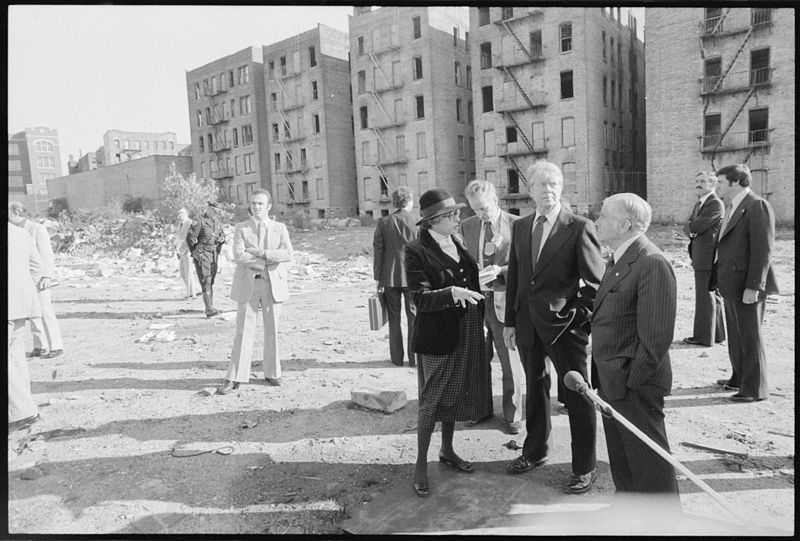 President Carter visits in 1977