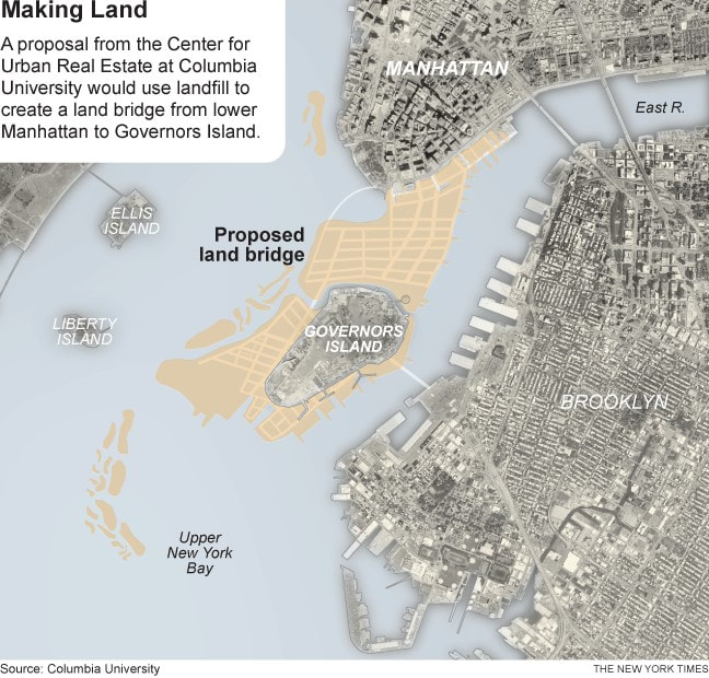 Figure 4: 2011 plan for expanded Manhattan. Image source: http://ritholtz.com/wp-content/uploads/2011/11/science1.png.