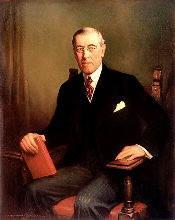 Woodrow Wilson, Official White House Portrait, F. Graham Cootes