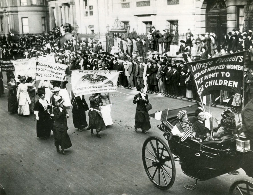 Suffragette Mothers on the March in New York [PR068, Box 10, Folder: People: Women: Suffrage (1)] New-York Historical Society