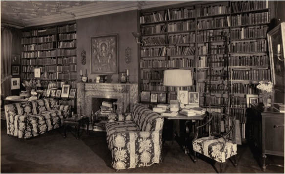 Julia Gardiner Gayley's library (above) and drawing room (below) at 20 Washington Square North. Photographs courtesy of Vittoria McIlhenny.