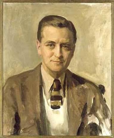 """F. Scott Fitzgerald,"" by David Silvette, 1935, National Portrait Gallery, Smithsonian Institution"