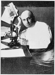 Alexis Carrel in his lab at the Rockefeller Institute