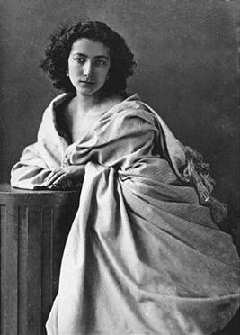 Sarah Bernhardt, photographed by Felix Nadar (1865)