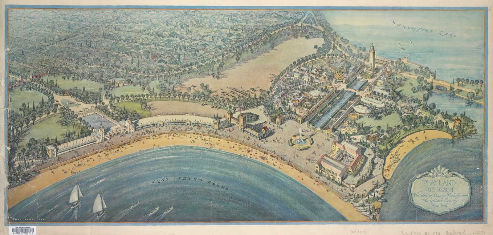 Playland, Rye Beach: Westchester County, New York. Maps of New York City and State collection, New York Public Library