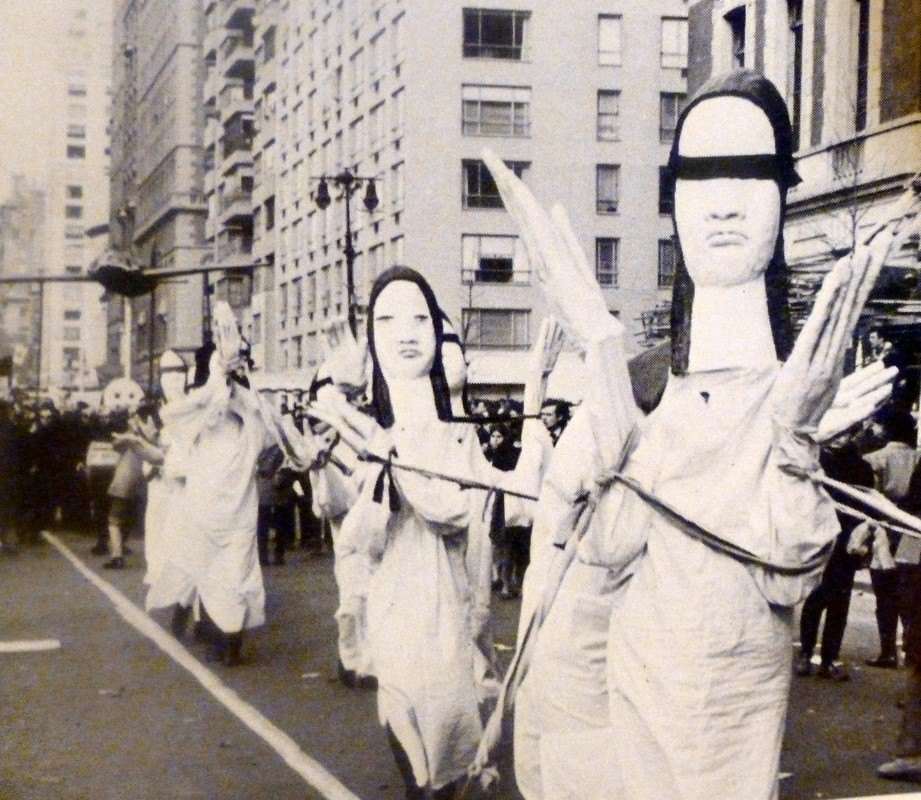 Bread and Puppet anti-war parade, New York City, 1967.