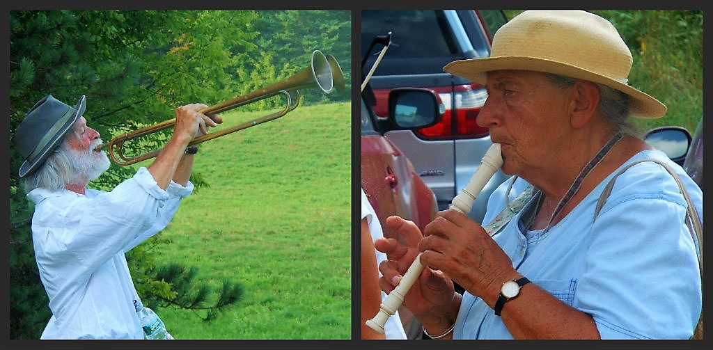 Peter and Elka Schumann, Bread and Puppet Farm, Glover Vermont (Erik Wallenberg).