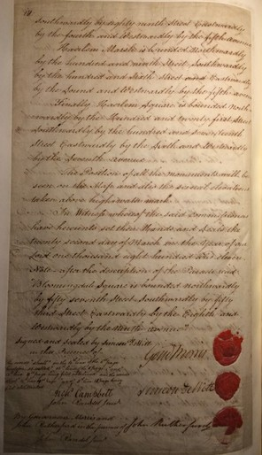 The commissioners' signatures, on the final page of their famous 1811 report (New York Public Library)