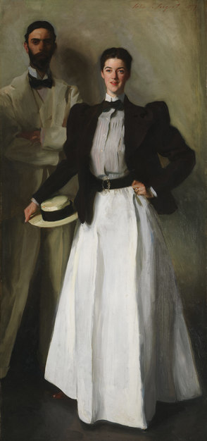 Mr. and Mrs. I. N. Phelps Stokes, oil on canvas, by John Singer Sargent, 1897 (The Metropolitan Museum of Art)
