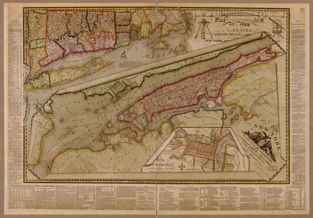 John Randel, The City of New York as laid out by the Commissioners with the surrounding country, Library of Congress Geography and Map Division Washington, D.C.
