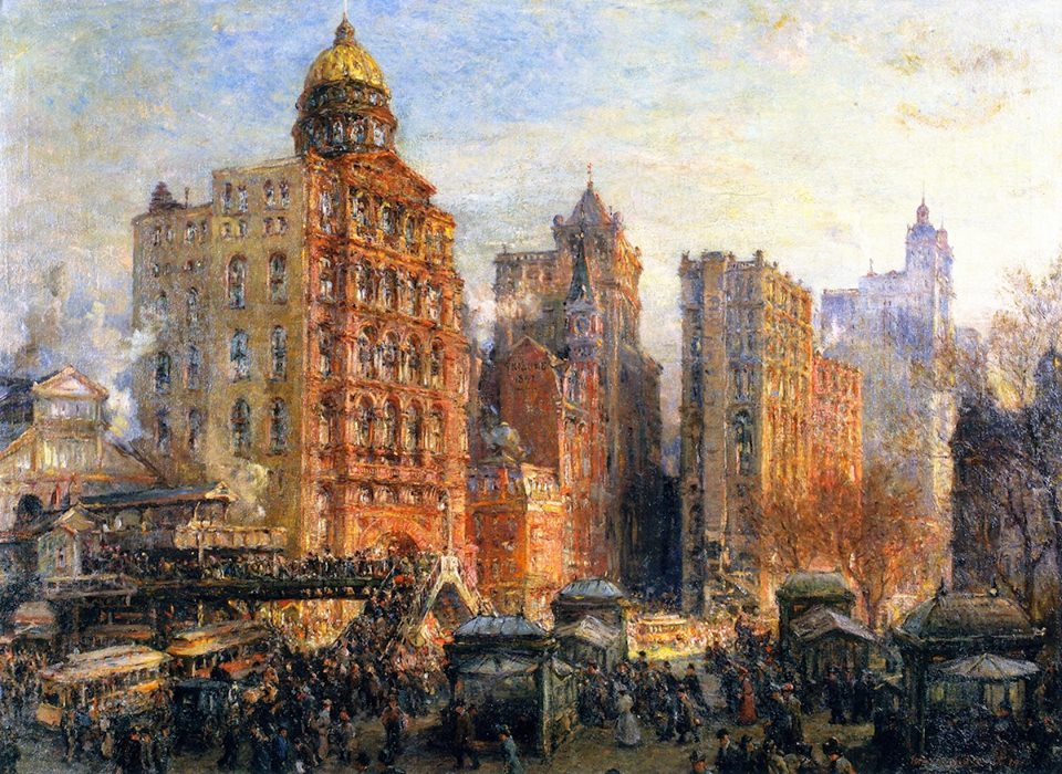 The Rush Hour, New York City by Colin Campbell Cooper, 1906.jpg