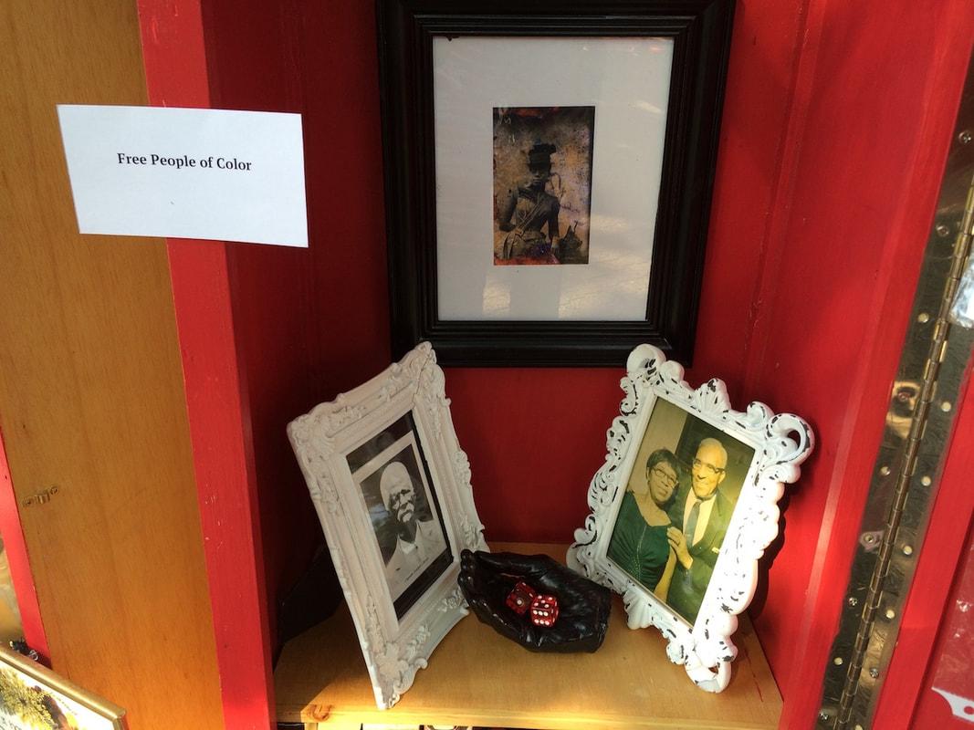 Installation detail — family photos
