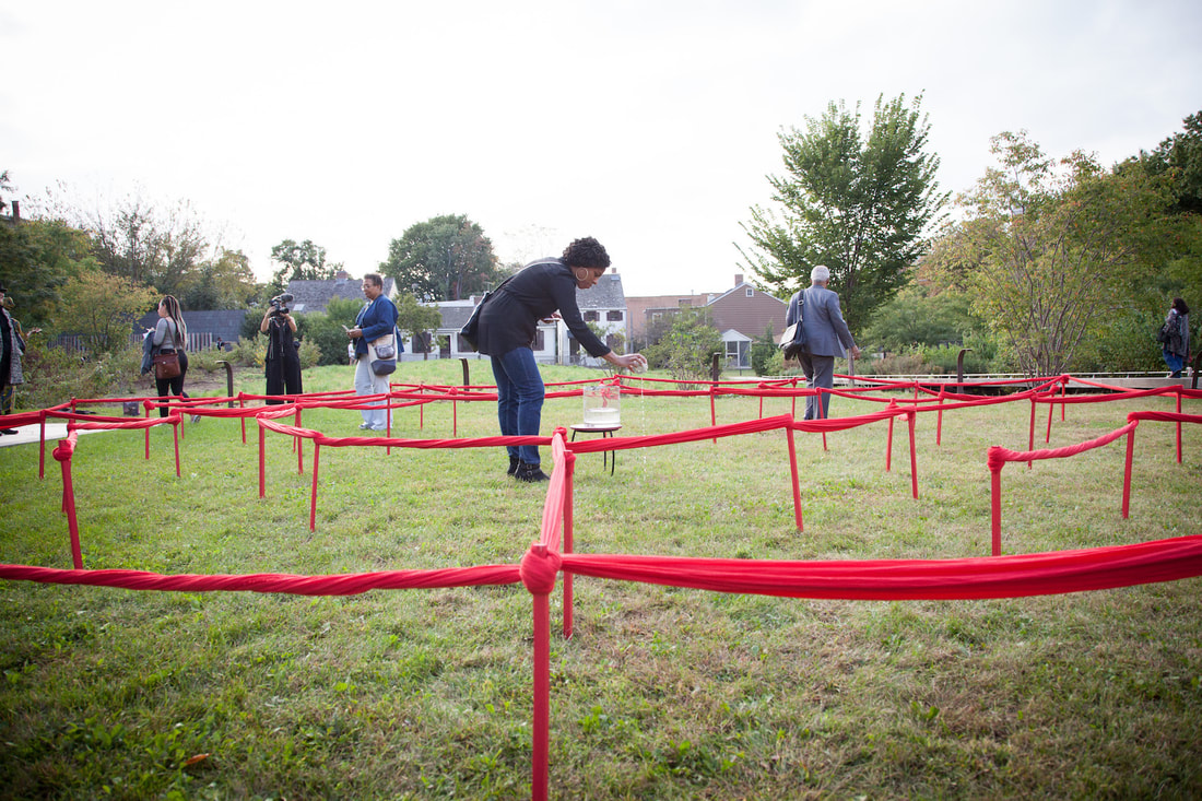 The Red Line Labyrinth at Weeksville Heritage Center, 2017.