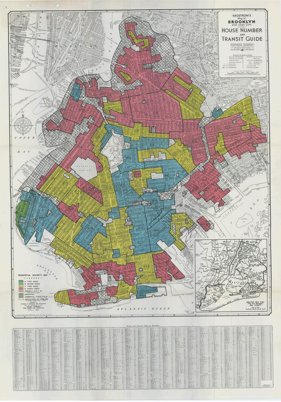 Home Owners Loan Corporation Map of Brooklyn, 1938.