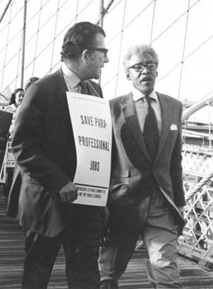 UFT President Albert Shanker and Bayard Rustin, October 6, 1970 (American Federation of Teachers Papers, Walter P. Reuther Library, Wayne State University