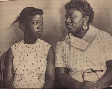 Mae Mallory with her daughter, Patricia, in 1957