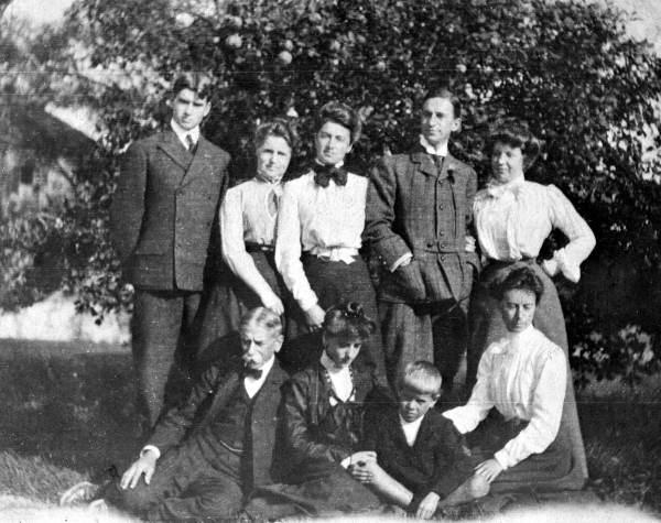 The Armstrong family, c. 1910. Image from Wikimedia Commons.