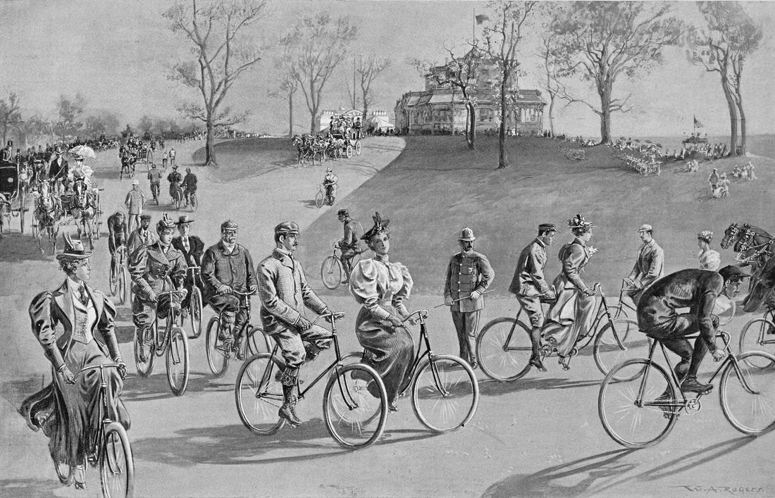Riverside Park, 1895. Harper's Weekly, June 15, 1895