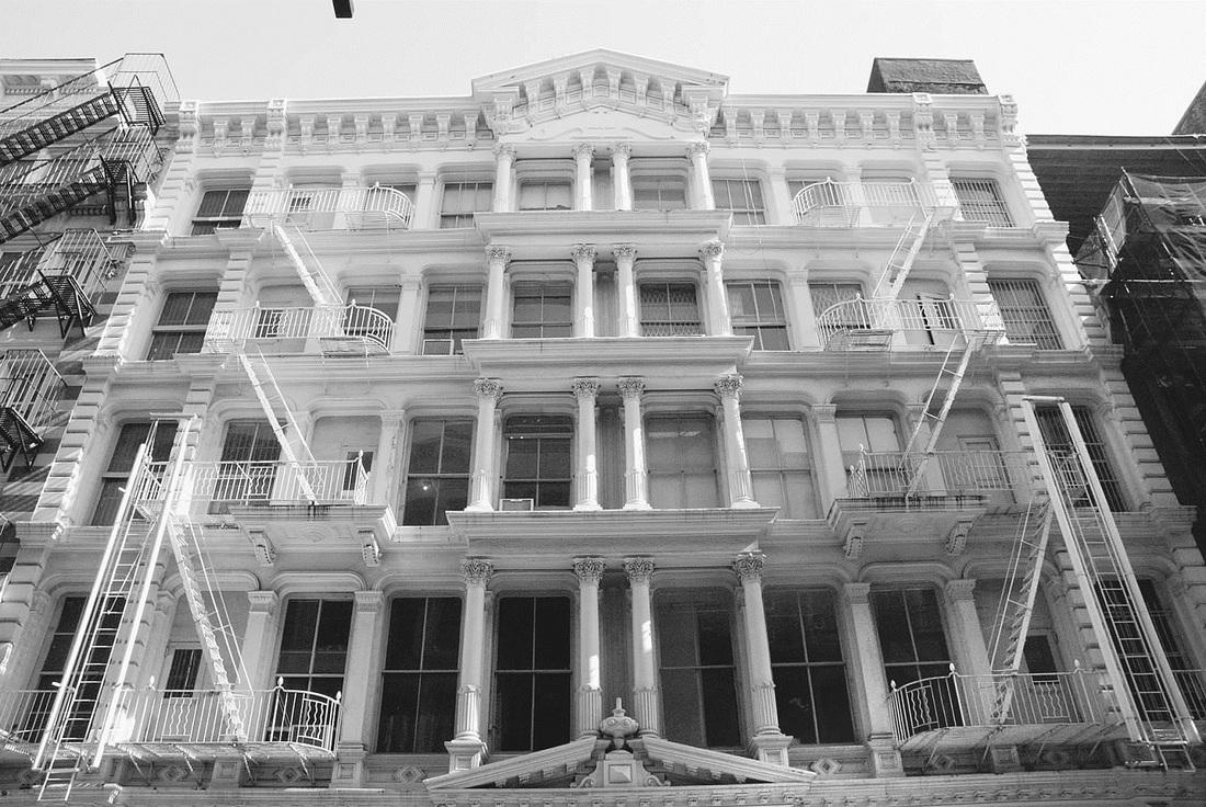 SoHo cast- iron building, 98 Greene Street (1881).