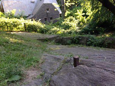 John Randel's survey bolt, still visible in Central Park