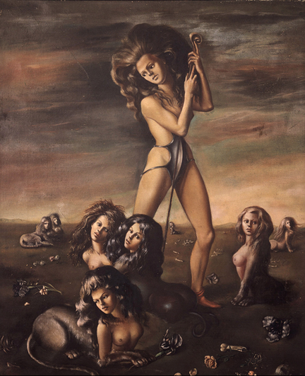 "Leonor Fini's ""The Shepherdess of the Sphinxes"""