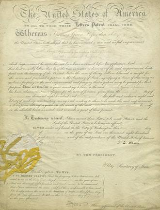 Jennings' patent letter