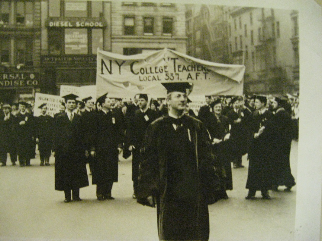 May Day parade, 1938; New York College Teachers Union contingent