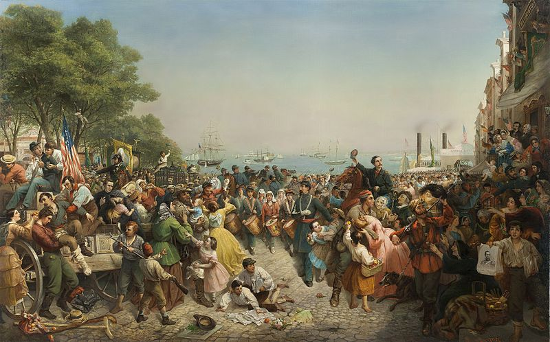 Return of the 69th (Irish) Regiment, N.Y.S.M. from the Seat of War, by Louis Lang (1862-1863).