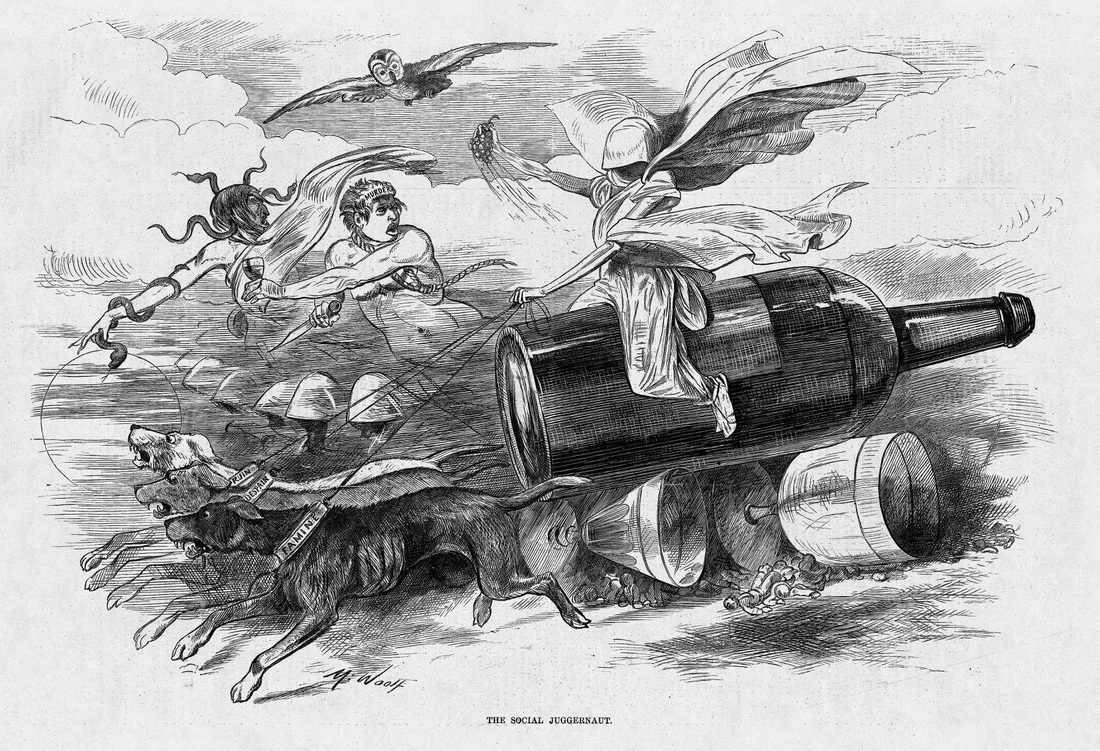"Michael Angelo Woolf, ""The Social Juggernaut."" Harper's Weekly, March 21, 1874."