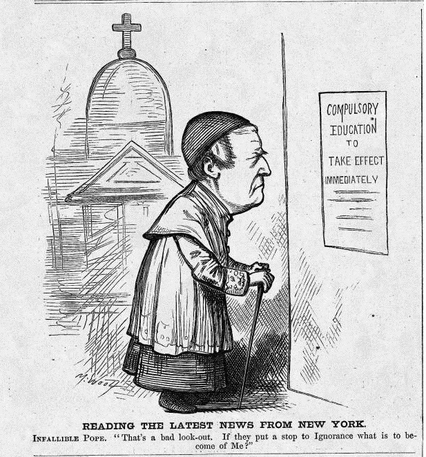 """Michael Angelo Woolf, """"Reading the latests news from New York."""" Harper's Weekly, January 9, 1875."""