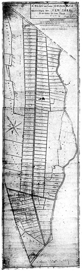 Casimir Goerck's 1785 plan of the Commons in various combinations of width and length