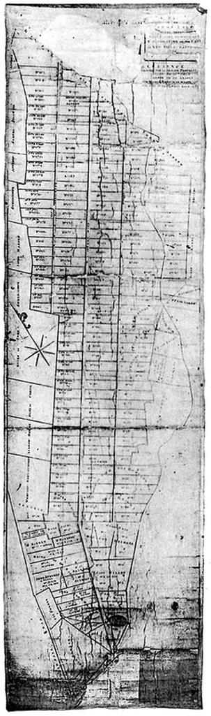 Casimir Goerck's 1795 plan of the Commons