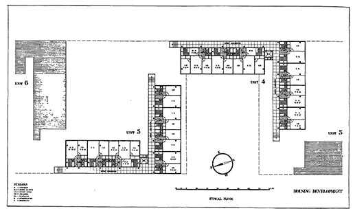 Howe and Lescaze, Housing, Chrystie-Forsyth Streets, unit plan. Shelter (April 1932).