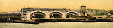 "The ferry terminal at Saint George, Staten Island where Eulogio Lozado landed with his ""unique"" bundle. Postcard, circa 1910s."
