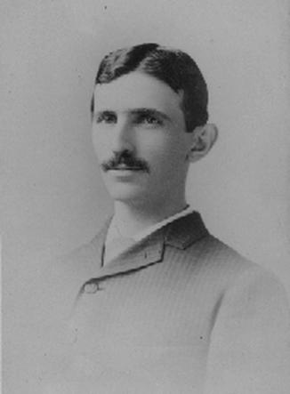 Tesla in 1885. From Smithsonian Institution, Neg. 83-13979.