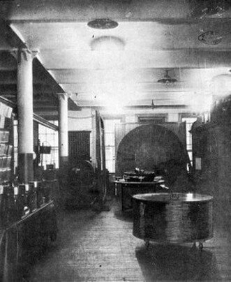 Main room of Tesla's laboratory at East Houston Street. From http://blog.world-mysteries.com/wp-content/uploads/2013/02/Tesla_fig06.jpg