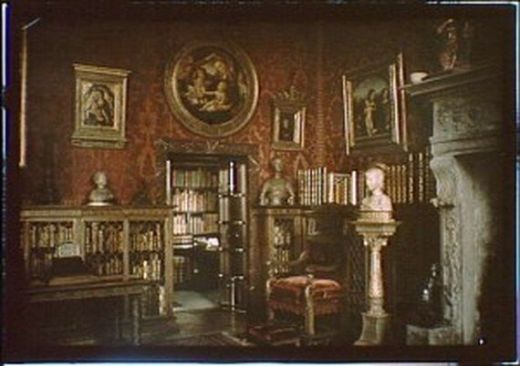 Morgan's library in his home on 36th Street where he met with Tesla. http://lcweb2.loc.gov/service/pnp/agc/7a17000/7a17800/7a17899r.jpg