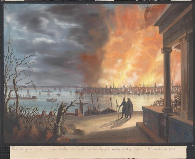 Lewis Taffien, Fire, 1835 (Image: Museum of the City of New York)