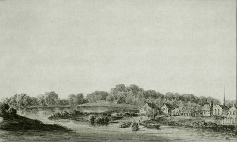 View of Harlaem from Morisania in the Province of New York September 1765. (in Stokes I: plate 39)