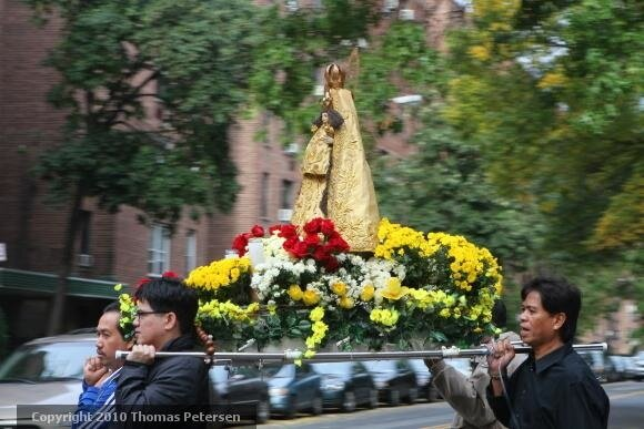 """La Naval de Manila"" procession in Flushing, Queens"