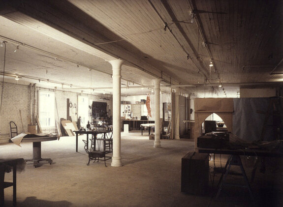 Studio area of Robert Watts' loft at 80 Wooster Street, ca. 1967. Photo © Robert Watts Estate, courtesy of the Getty Trust.
