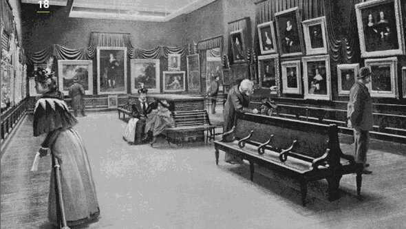 The Marquand Gallery, six years after the Met opened its doors on Sundays.