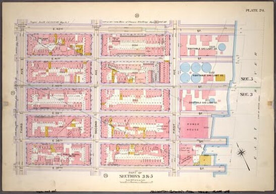 1899 Map of the Area, courtesy of The New York Public Library. For zoom-in capability click here