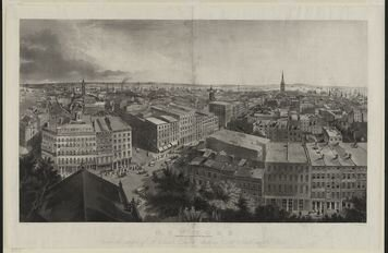 An image of NYC looking south from St. Paul steeple. Everything to the south was to be destroyed in the attack.