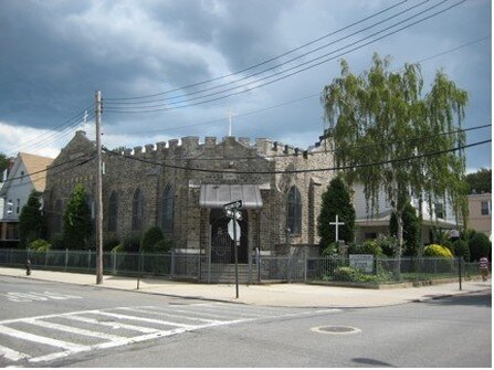 First Korean Church of Brooklyn (formerly Coney Island Pentecostal Church). Southeast corner of Gravesend Neck Road and Van Sicklen Street. Photo by Joseph Ditta, 2008
