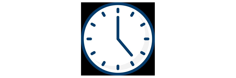 An analog clock icon