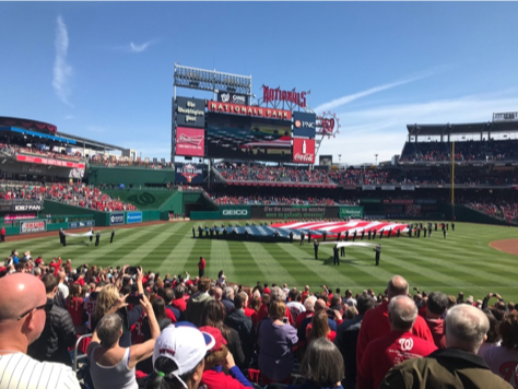 The AlphaBrook family enjoyed peanuts and cracker jacks during our annual trip to Nationals Park for their opening day game.