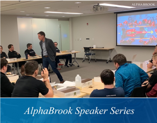 Jeff Eggers, retired Navy Seal and current Executive Director of McChrystal Group Leadership Institute, challenge us on innovative leadership as part of our Speaker Series.